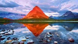 Gunung grinnel, montana, AS